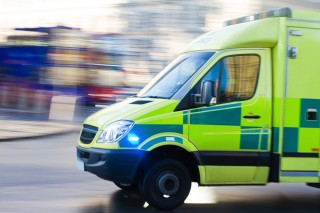 Image of ambulance for Vets Now article on running over a dog uk law