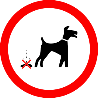 Image of no dog poop sign for Vets Now article on why do dogs eat poop