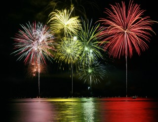 Image of fireworks for Vets Now article on dog scared of fireworks