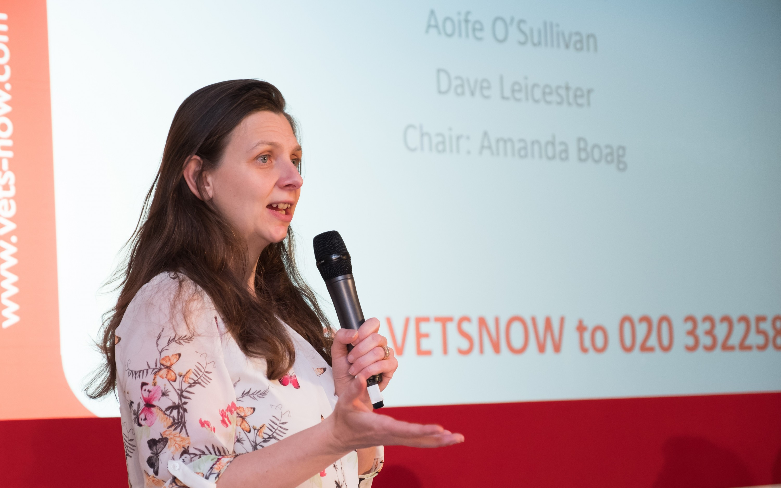 An image of Amanda Boag presenting at Congress for Vets Now page on Learning and development