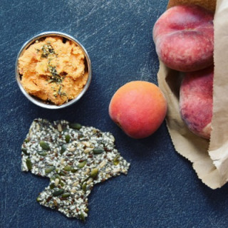 Image of red pepper hummus for Vets Now article on healthy eating