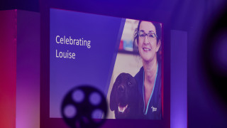 Image showing the stage at the Vets Now congress during the presentation of the Louise O'Dwyer bursary